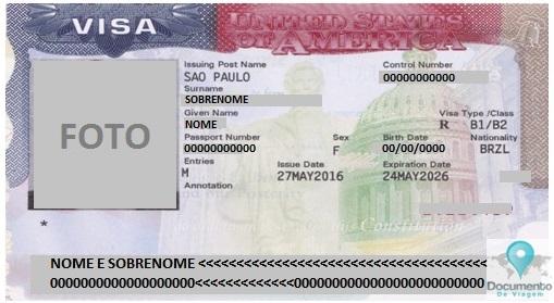 Solicitação Visto Americano de Turista (B-2)