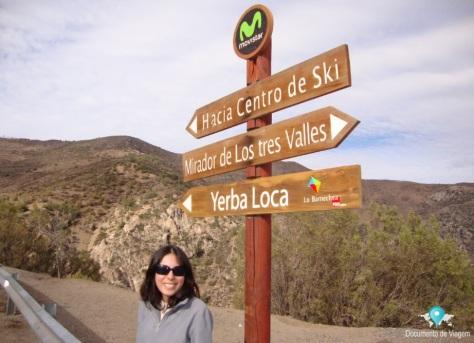 Estrada rumo ao Valle Nevado