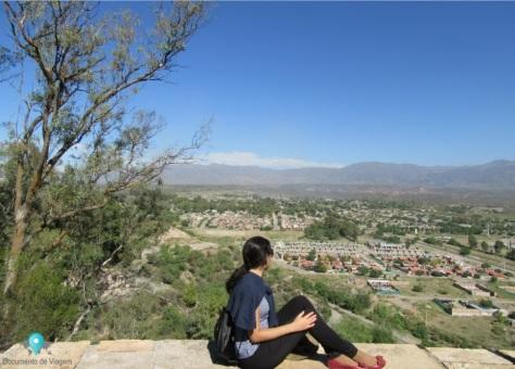A cidade de Mendoza vista a partir do Cerro de La Gloria
