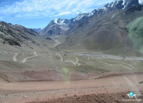 Subida até o Cristo de los Andes