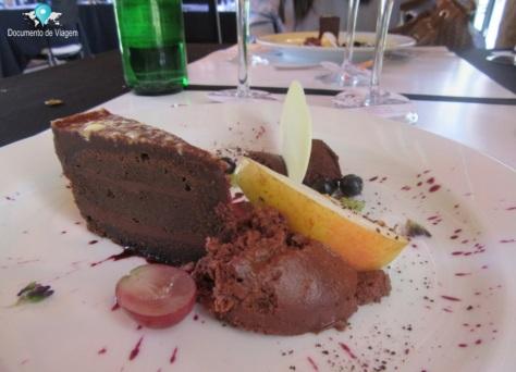 Sobremesa: Torta de chocolate