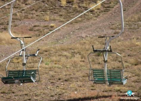 Estação de esqui Los Penitentes no verão