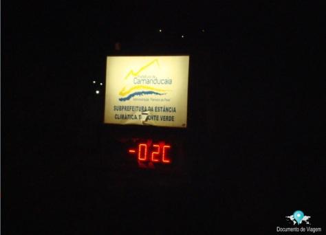 Monte Verde -02º graus no final do mês de junho