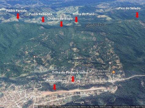 Fonte: Google Maps   Documento de Viagem
